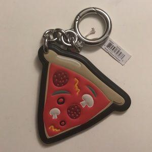 Coach pizza keychain NWT